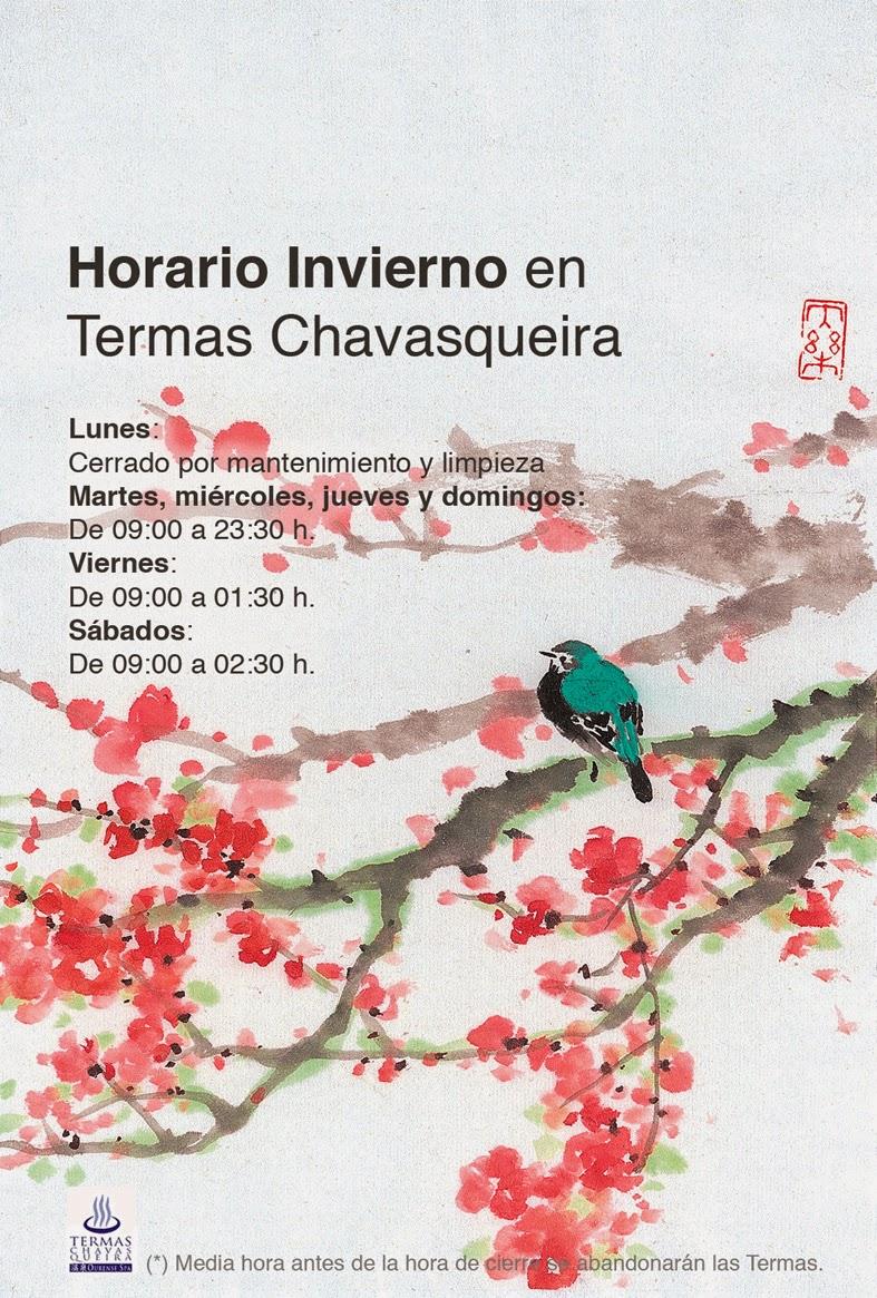 Horario Otoño-Invierno Termas Chavasqueira