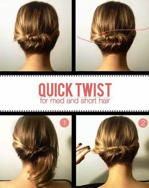 Model Rambut dengan Konde Rambut Pendek / Medium: