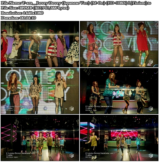 PV T-ara - Lovey Dovey (Japanese Version) (M-On Full HD 1080i)