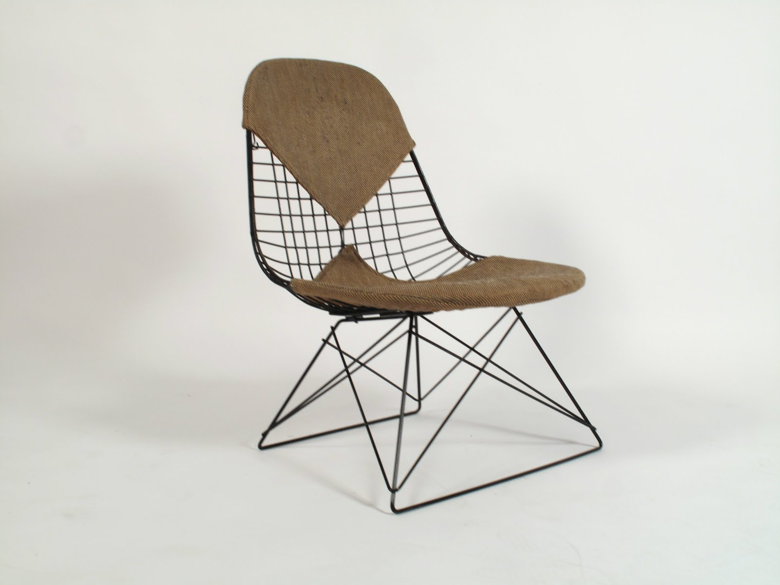 "Just in Modern Charles Eames ""LKR"" Early Cat Cradle Wire Chair 1952"