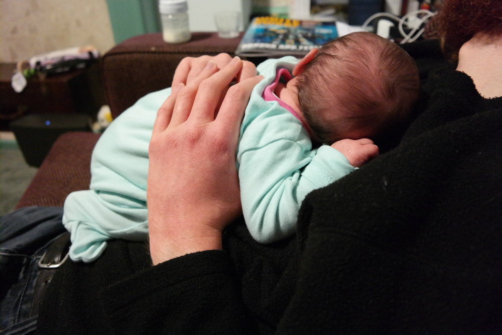 Why We Chose the Name Matilda: Baby in Father's Hands
