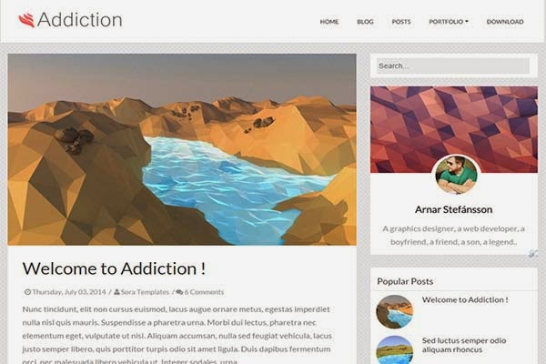 addiction-free-blogger-templates