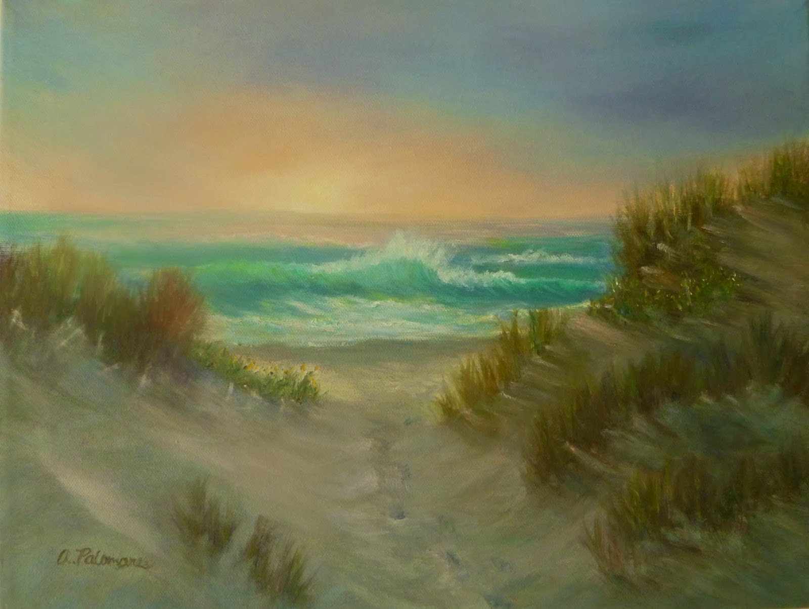 Painting Beach Sand In Oil Paint