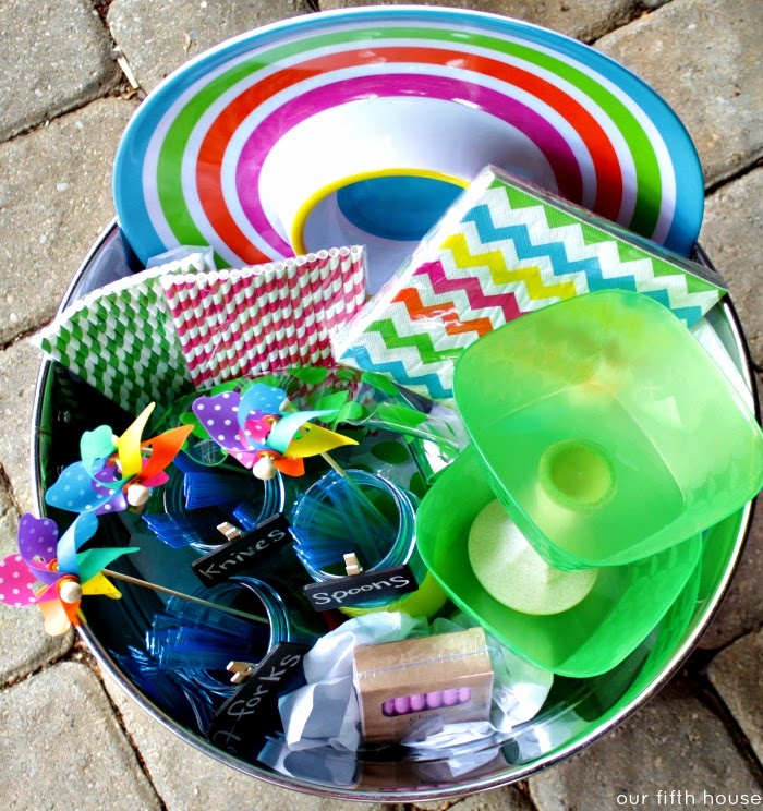 summer entertaining party bucket gift idea
