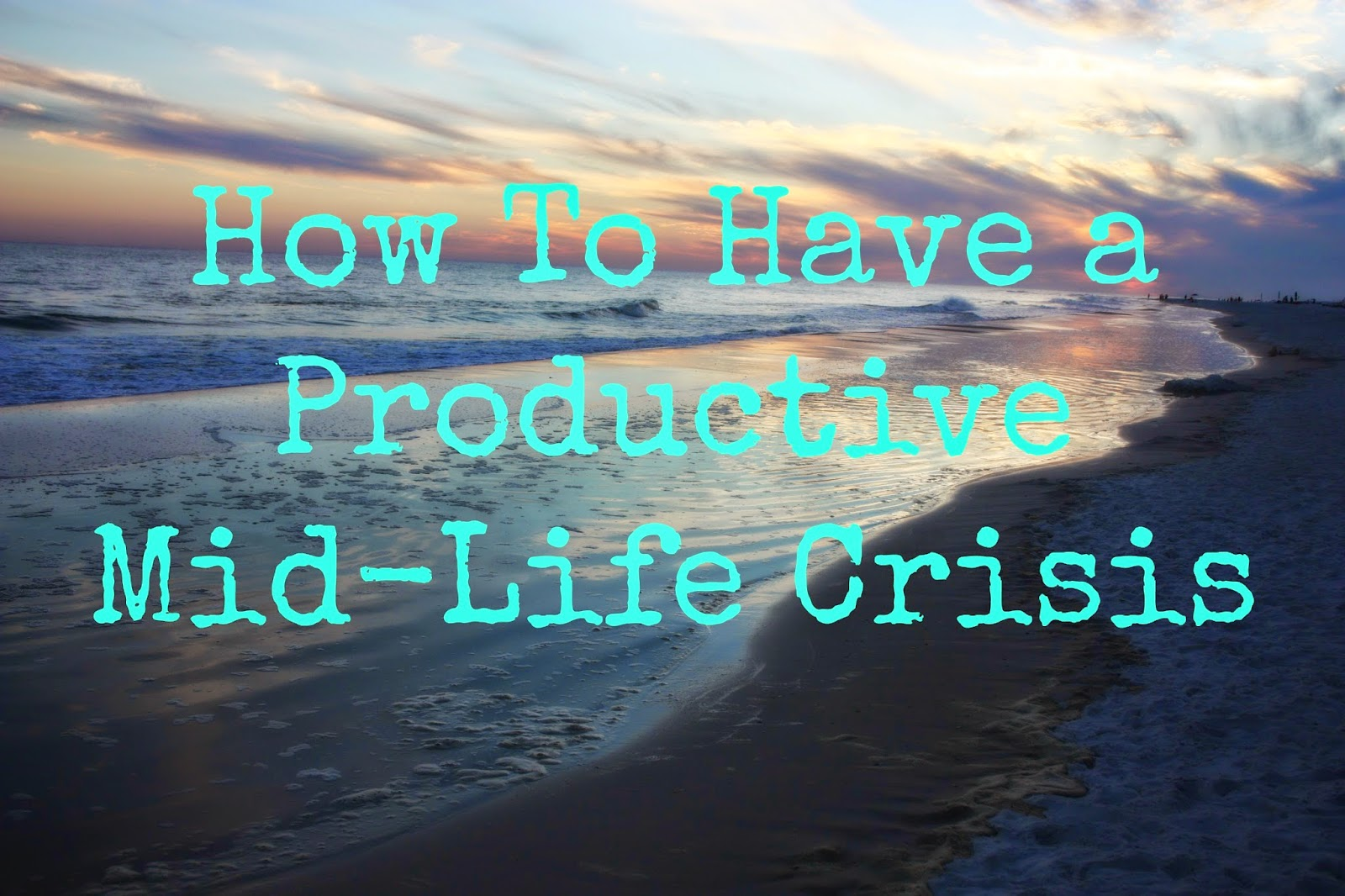 lead in to a great article about mid life crisis