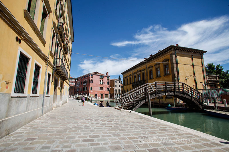 Wooden bridge venice