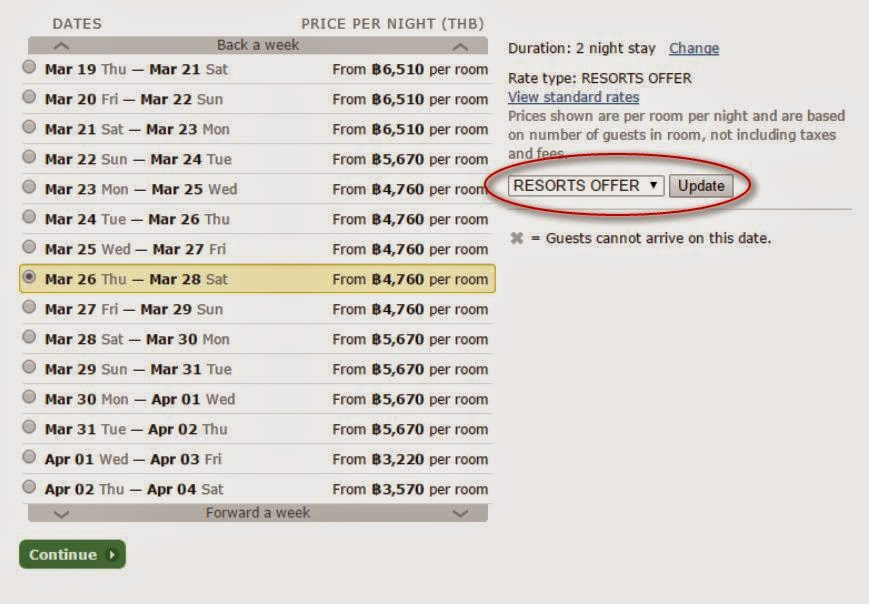 hilton見到Resorts Offer/ Early Saver即今次優惠