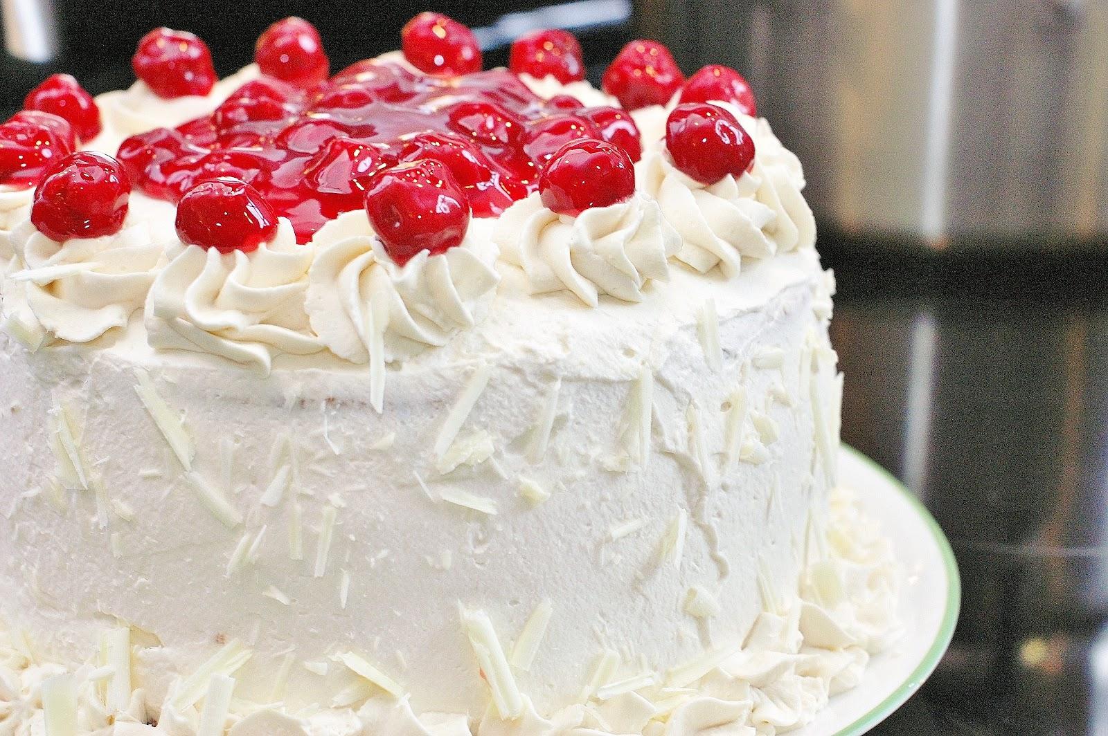 Amaretto Cherry Cake