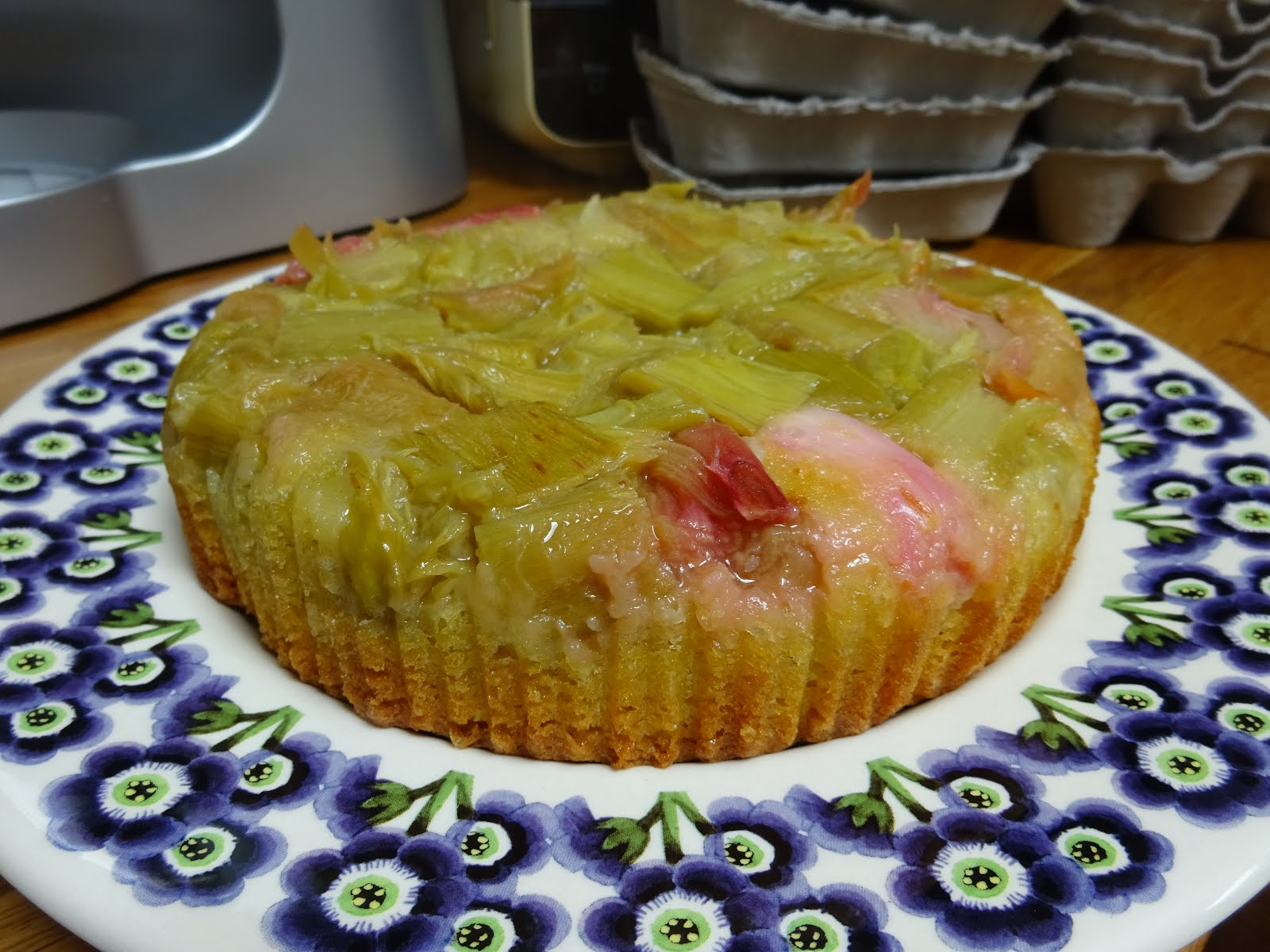July - Rhubarb Upside Down Cake