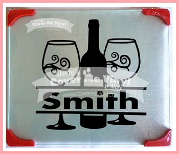 Wine Bottle Name Cutting Board