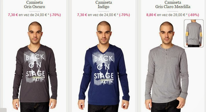 Tres modelos de camisetas en oferta, ¡sólo 7,30 euros!