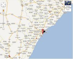 Mapa como chegar em Sergipe