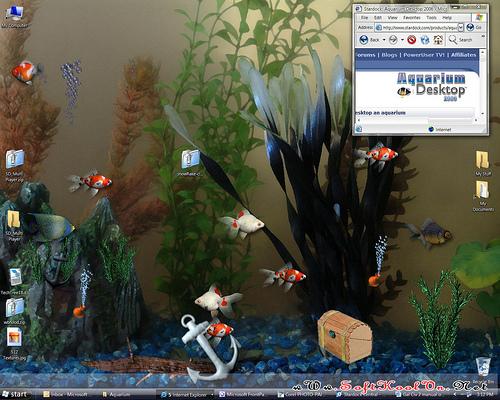 adalah software yang menggerakkan ikan di dektop alias bukan software