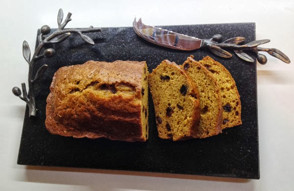 Pumpkin Raisin Bread recipe (Low Fat)