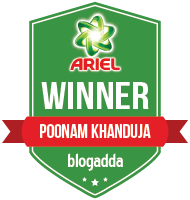 Winner With Ariel & BlogAdda