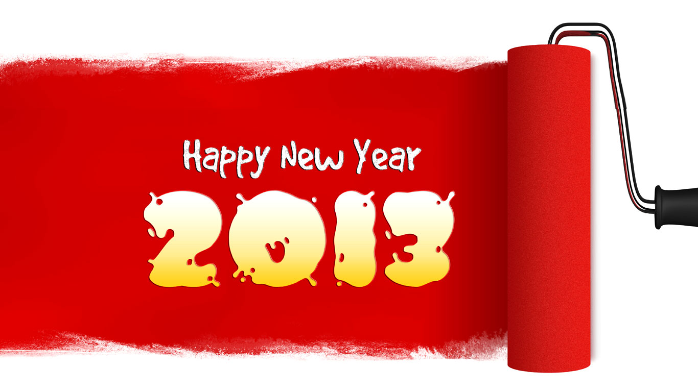 Red Happy New Year 2013 – Bonne annee 2013