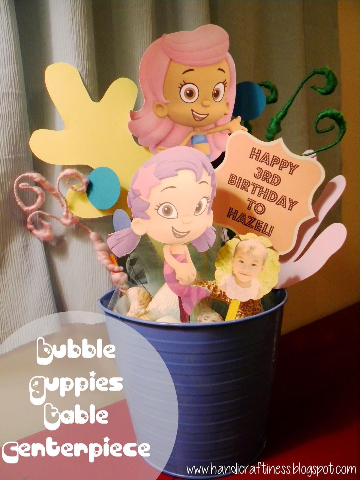 The pretty kitty studio bubble guppies diy party decor - Bubble guppies center pieces ...