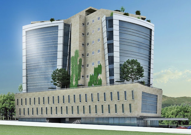 D Front Elevation Of Commercial Building : D front elevation commercial plaza tower