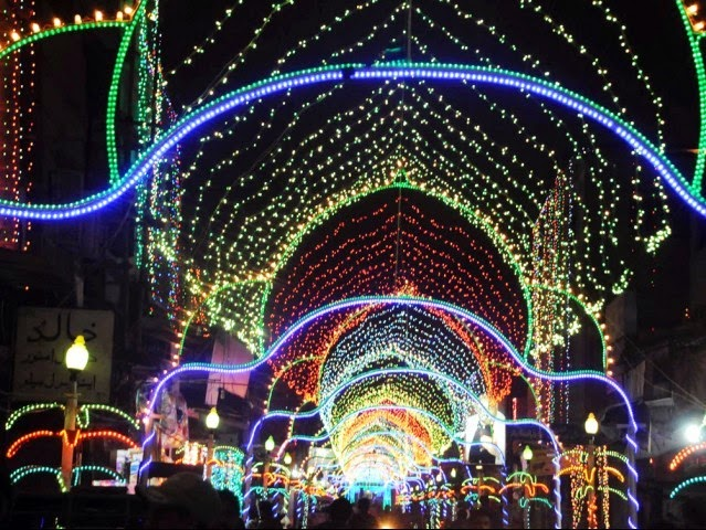 Noor lights decorations decoration on eid mailaad ul for Decoration 3id milad