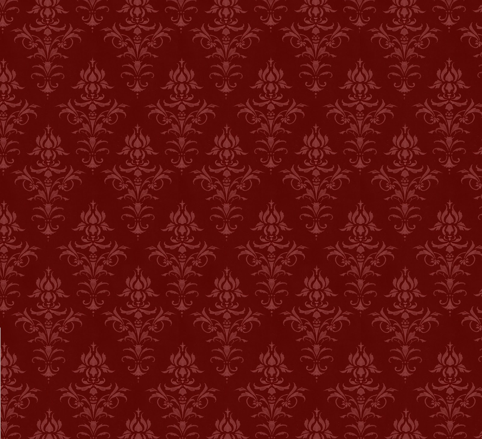 Victorian Red Pattern Wall Paper