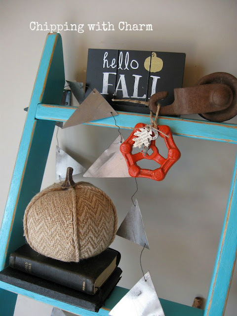 Chipping with Charm: Orange Faucet Knob Pumpkin...www.chippingwithcharm.blogspot.com