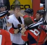 Mikhail Grabovski claws Zack Smith