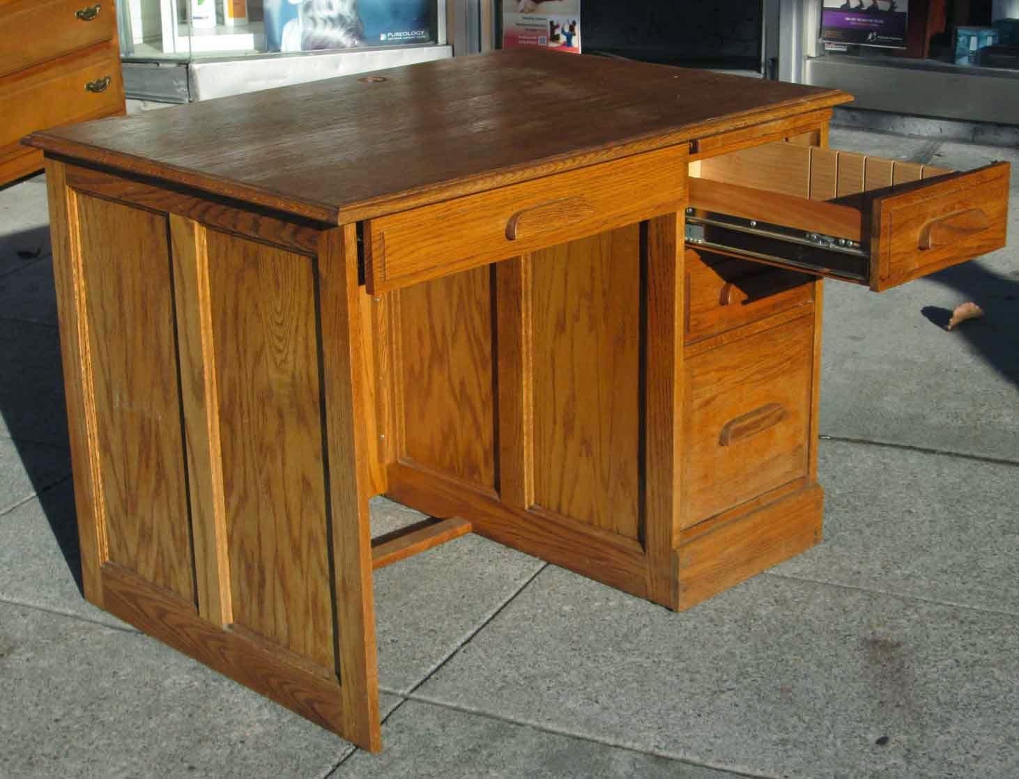 UHURU FURNITURE & COLLECTIBLES SOLD Golden Oak Desk $75