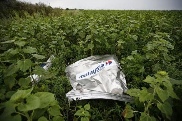Tragedi Malaysia Airlines 2014 | Foto Puing Malaysia Airlines MH17 Akibat Tembakan