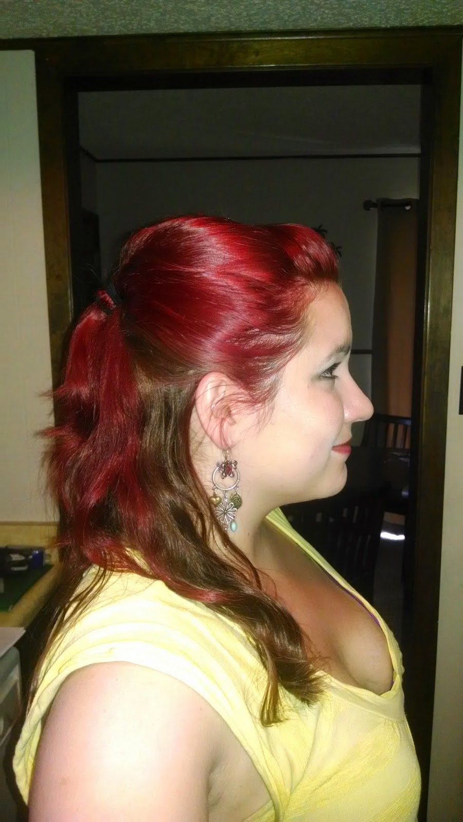 Theresa m jones how to dye your hair two tones red on top and pretty hair is was redder than the pictures look the ones below are the best i could get that actually shows the color solutioingenieria Gallery