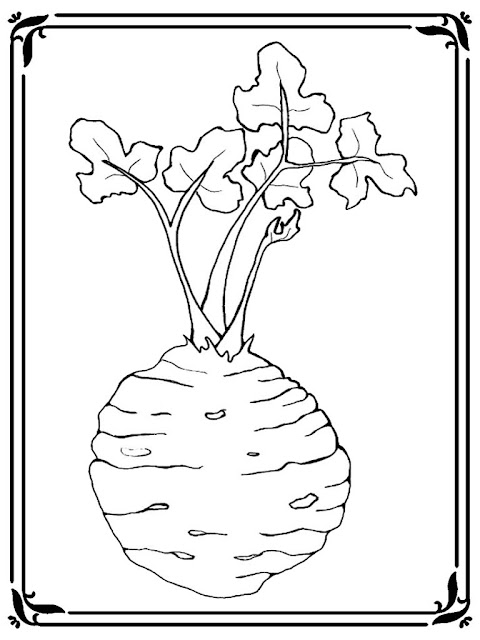 celery coloring pages. Black Bedroom Furniture Sets. Home Design Ideas