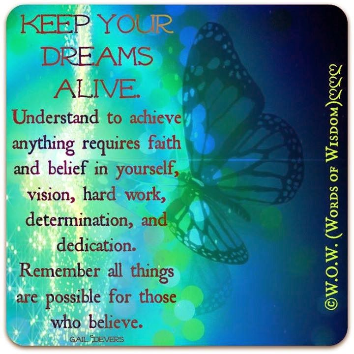 Keep Your Dreams Alive Understand To Achieve Anything Requires