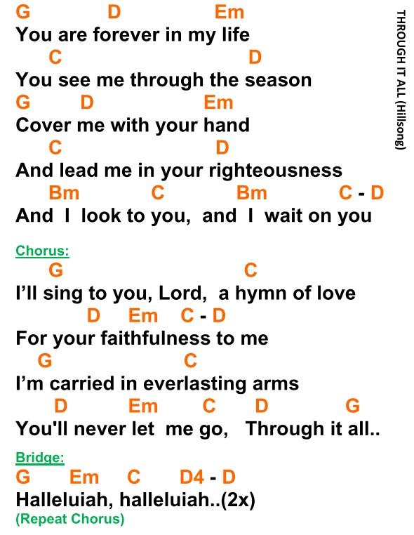 Through It All Hillsong Lyrics And Chords Faith And Music