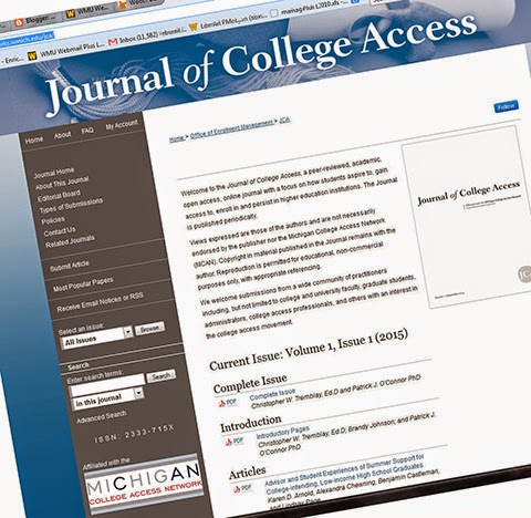 Image of the online journal's home page
