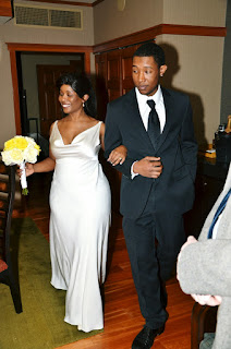 Mason walks with his mother, Michelle - Wedding Ceremony celebrated by Patricia Stimac, Seattle Wedding Officiant