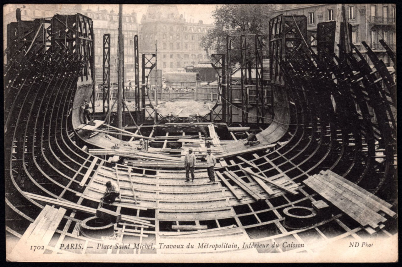 Phil beard m tro parisien 1905 for Parisien construction