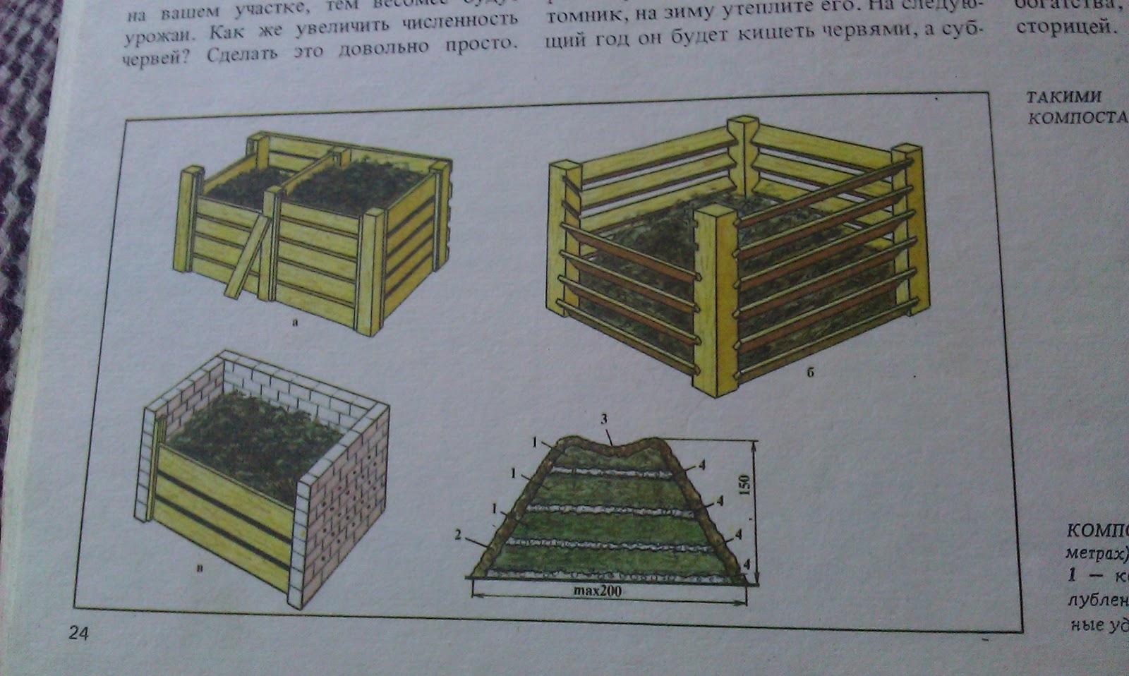 Компостная яма на даче своими руками чертежи