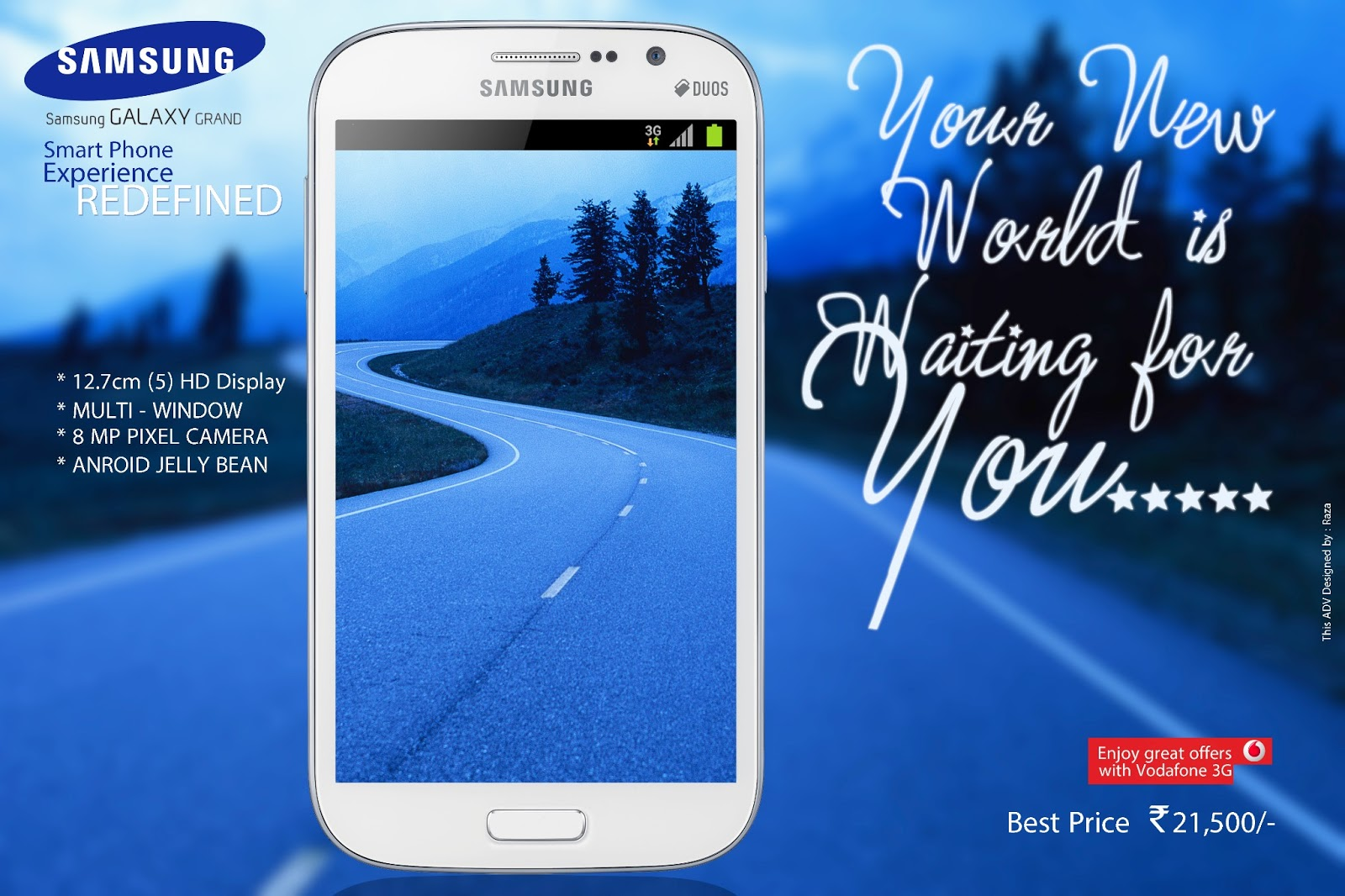 Graphics Samsung Galaxy Grand Branding Banner Poster Web Ad