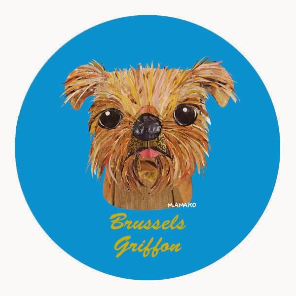 犬種名ステッカー カーステッカー ブリュッセル・グリフォン