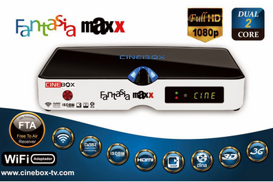 CINEBOX FANTASIA MAXX HD DUAL CORE 3 TUNERS - CORRETIVA - 27/04/2015