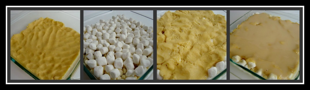 White Chocolate S'mores Gooey Cake Bars - Julie's Eats & Treats