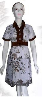baju-batik-wanita-terusan-pendek