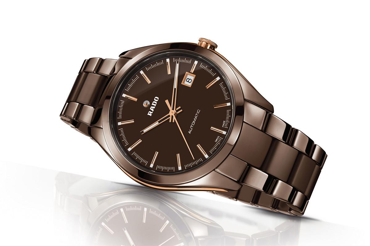 Rado Hyperchrome Brown Ceramic Time And Watches