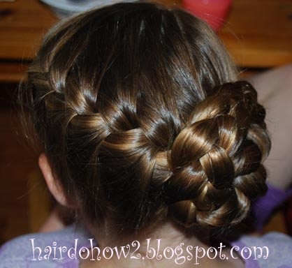 Hairdo how to lesson 95 rounded french braid with side braid bun lesson 95 rounded french braid with side braid bun ccuart Images