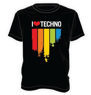 Koszulka I love techno