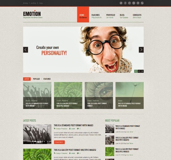 Emotion Responsive WordPress Theme