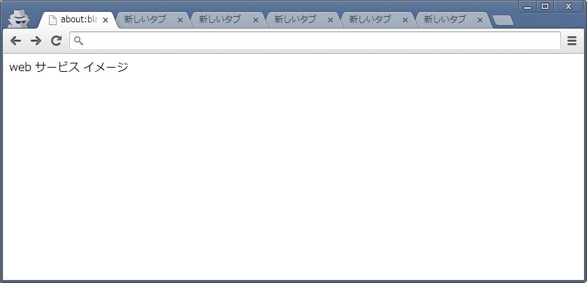 作業効率向上 : よく使う Web サービスのページは常に開いておく ブラウザの 1 つのウィンドウで、複数の Web サービスを開いておく(イメージ図)