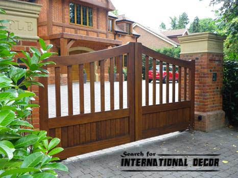 Gate designs, Gate designs for private house, wooden gate design