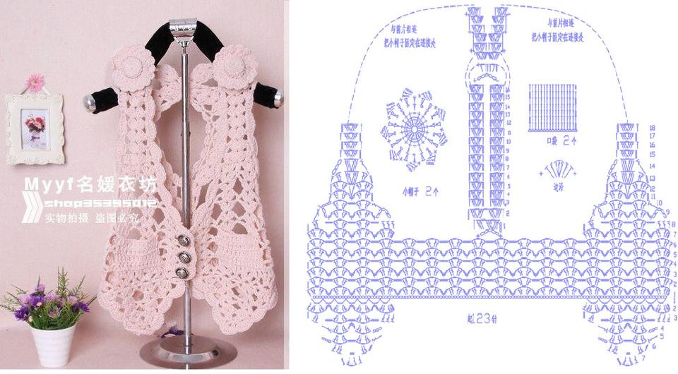 Patron Crochet Chaleco Glamour