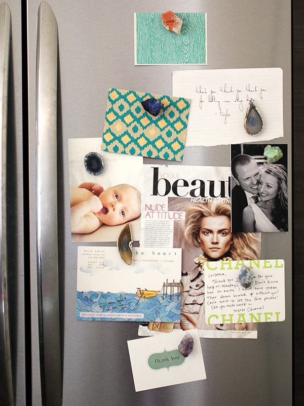 How to DIY crystal fridge magnets