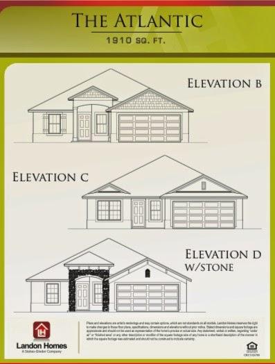 Landon homes featuring the atlantic floor plan caney for Landon homes floor plans